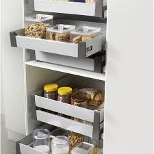 meuble a balai pour cuisine tiroir à l anglaise hauteur pour meuble l 60 cm delinia