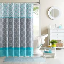 Curtains Blue Green Buy Blue Shower Curtain From Bed Bath U0026 Beyond