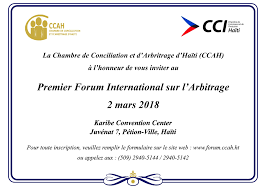 chambre d arbitrage de forum international sur l arbitrage carte d invitation loop