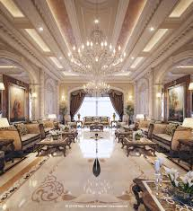 luxury arabic majlis with classical elements interior design