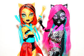 Monster High Doll Halloween Costumes by Monster High Catty Noir U0026 Toralei Stripe Fierce Rockers 2