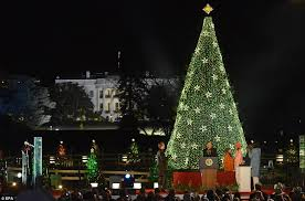 christmas 2012 obama family lights national christmas tree in