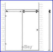 frameless sliding door hardware