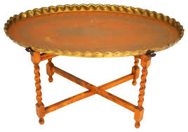 Oval Accent Table Oval Moroccan Brass Tray Table
