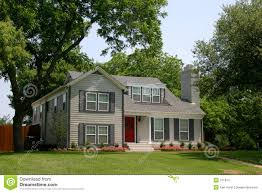 classic colonial style house stock images image 751974