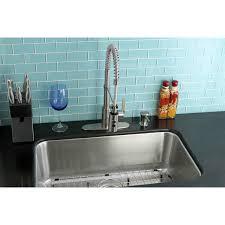 undermount 1 bowl kitchen sink combo w faucet strainer grid