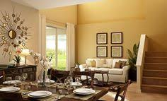 neutral color dining decor and large painting brightens up dining