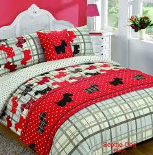 Cheetah Print Bedroom Set by 5 Piece Bed In Bag Duvet Quilt Cover Scottie Dog Tartan Animal