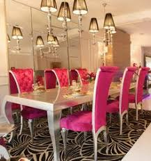 high end silver and pink dining set living room pinterest