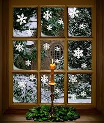 81 pcs clings decal stickers white snowflakes window ebay