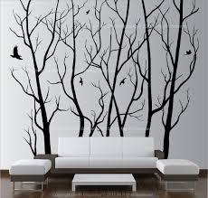 Home Decor Wall Art Stickers Superb Metal Wall Art Trees With Birds Tree Wall Art Stickers