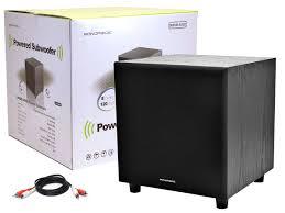 klh home theater system 8 inch 60 watt powered subwoofer black monoprice com