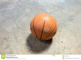 Basketball Court Floor Texture by Basketball On Cement Floor Stock Photo Image Of Basketball 49662048