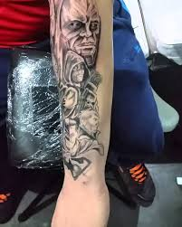 superman batman half sleeve tattoo youtube