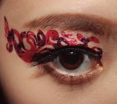 temporary tattoo eye makeup eyeshadow red rose vampire lace