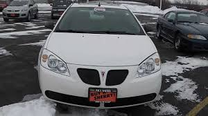 2008 pontiac g6 gt coupe white for sale dealer dayton troy piqua