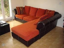 canapé d angle orange canape d angle avec 7 coussins