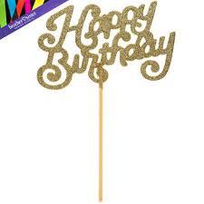 happy birthday cake topper gold glitter happy birthday cake topper hobby lobby 1240969