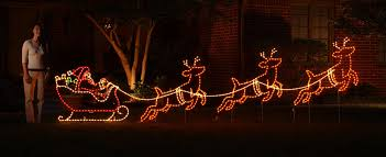 Lighted Christmas Window Decorations by Lighted Santa And Sleigh Christmas Outdoor Decoration