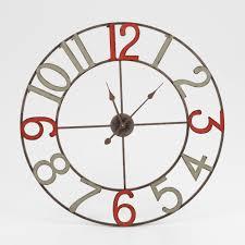 Horloge Murale Silencieuse by Grande Horloge Murale Cuisine Pendule Rectangulaire Bois
