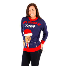 donald christmas sweater 2016