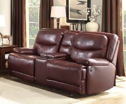 Loveseat Recliner With Console Homelegance Risco Double Glider Reclining Love Seat With Center