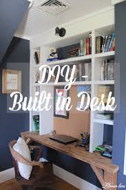 Diy Built In Desk Built In Desk S Room Lehman