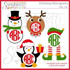 monogram christmas sanqunetti design christmas monograms