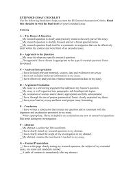 Ib Extended Essay Samples Ib Extended Essay Criteria
