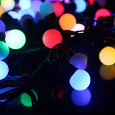 light blue decorative balls 10 metre colour changing rgb led string lights with decorative