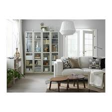 Bookcases With Lights Billy Bookcase With Doors Beige Ikea
