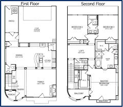 1 Storey Floor Plan by Story 2 Bdrm 2 1 2 Bath With Loft 2 Story Floor Plans Swawou