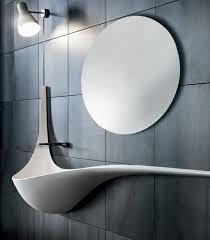 waschtische design designer waschbecken weiße keramik geschwungene linien runder