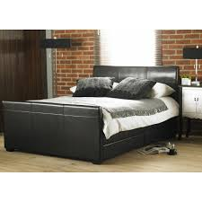 Cheap Leather Bed Frame Cheap Hyder Living Monza 4 Drawer Black Faux Leather Bed Frame For