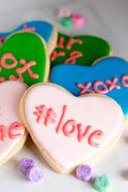 conversation heart conversation heart sugar cookies cook craft