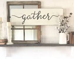 large gather sign etsy