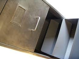 Retro Filing Cabinet Retro Furniture Vintage Retro 4 Drawer Filing Cabinet Polished Metal