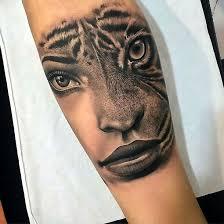 half half tiger for forearm