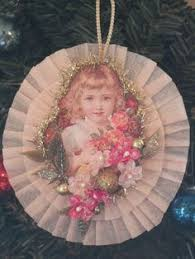 victorian angel scrap u0026 dresden christmas ornaments handmade