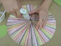 paper fan circle decorations crankin out crafts ep127 accordion circle hanging decoration youtube