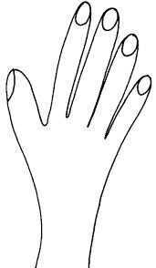 coloriage dune main  Tête à modeler