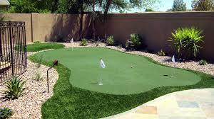 Turf For Backyard by Custom Putting Greens For Your Backyard Using Artificial Turf