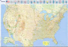 Road Maps Usa by Michelin Us Road Map Close Up Zoom