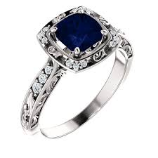 model cincin blue safir saphire and blue diamond rings wedding promise diamond