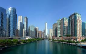Modern City Skyscrapers Sail Chicago Skyscrapers Sky America Architecture Usa