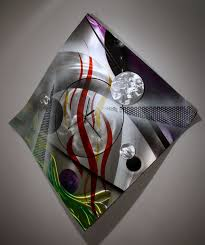 wilmos kovacs colorful modern abstract metal sculpture rainbow