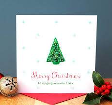 personalised sequin tree card by sabah designs