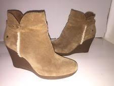 ugg australia alexandra water resistant suede wedge boot ugg australia zip wedge ankle boots for ebay