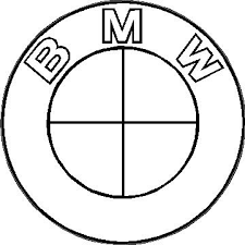 black and white bmw logo bmw black and white decal sticker 09