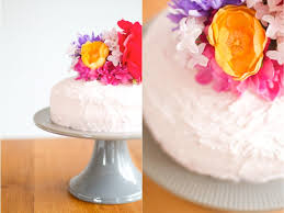 rock it yourself artificial flower cake topper this little